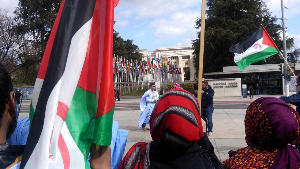 Manifestación en Ginebra de la Comunidad saharaui en Francia