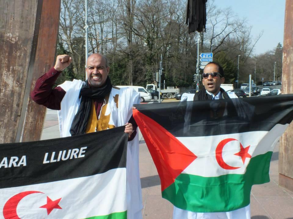Fotos de la manifestación de la diáspora saharaui en Ginebra (13-03-2015)
