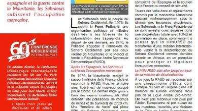 "Photo of مجلة  témoignages opinions الفرنسية تنشر مقال بعنوان ""الصحراويون ، آخر شعب مستعمر في إفريقيا""."