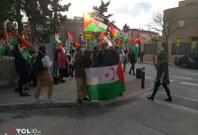 Photo of الجالية الصحراوية بمدريد تتظاهر أمام سفارة الإحتلال المغربي بالعاصمة الإسبانية