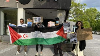 Photo of وقفة تضامنية سلمية مع الشعبين الصحراوي والفلسطيني بالعاصمة السويدية استوكهولم